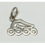 Inline Skate Pendant Cut Out Small
