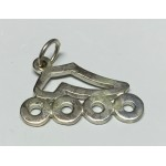 Inline Skate Pendant Cut Out Large