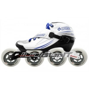 Bont Jet Inline Speed Skate White/Blue 3 Point