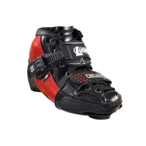 Luigino Kids Mini Challenge Adjustable Inline Speed Skate Boot Red