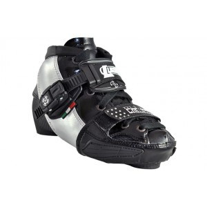 Luigino Kids Mini Challenge Adjustable Inline Speed Skate Boot Silver
