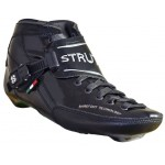 Luigino Strut Black/Silver Inline Speed Skate Boot