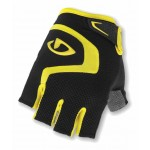 Giro Bravo Cycling Gloves Black/Yellow - XLarge