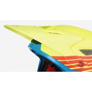 Giro Cipher Visor Matte Glowing Red Highlight Yellow