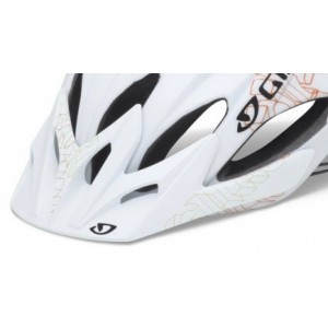 Giro Xar Visor Matte White Orange Blockade