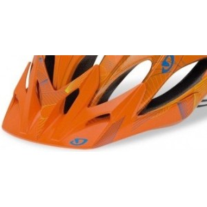 Giro Xar Visor Metallic Orange Blue Yellow Lines
