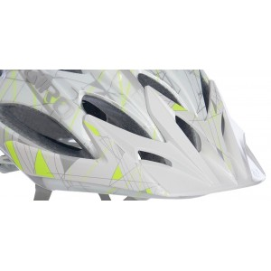 Giro Xara Visor Pearl White Highlight Yellow Scribble
