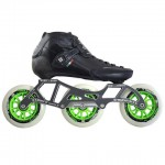 Luigino Strut Inline Speed Skate Black/Silver 3 Wheel