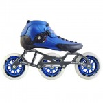 Luigino Strut Inline Speed Skate Black/Blue 3 Wheel