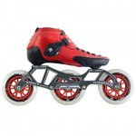 Luigino Strut Inline Speed Skate Black/Red 3 Wheel