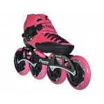 Luigino Strut Inline Speed Skate Pink Trim 4 Wheel