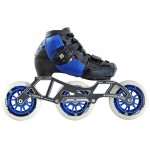 Luigino Kids Mini Challenge 3 Wheel Blue/Black Adjustable Inline Speed Skate