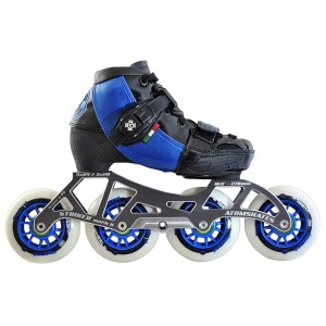 Luigino Kids Mini Challenge 4 Wheel Blue/Black Adjustable Inline Speed Skate