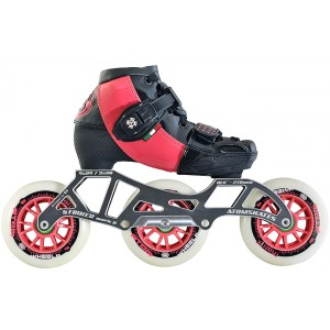 Luigino Kids Mini Challenge 3 Wheel Pink/Black Adjustable Inline Speed Skate