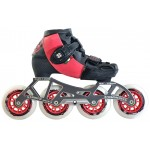 Luigino Kids Mini Challenge 4 Wheel Pink/Black Adjustable Inline Speed Skate