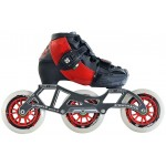 Luigino Kids Mini Challenge 3 Wheel Red/Black Adjustable Inline Speed Skate