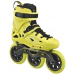 Powerslide Imperial Megacruiser Yellow 125 TriSkate Inline Speed Skate