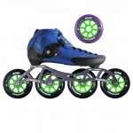 Luigino Strut Indoor Inline Speed Skate Blue/Black 4 Wheel