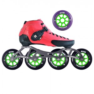 Luigino Strut Indoor Inline Speed Skate Pink/Black 4 Wheel