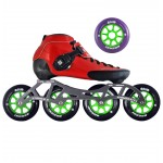 Luigino Strut Indoor Inline Speed Skate Red/Black 4 Wheel
