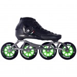 Luigino Strut Indoor Inline Speed Skate Black/Silver 4 Wheel