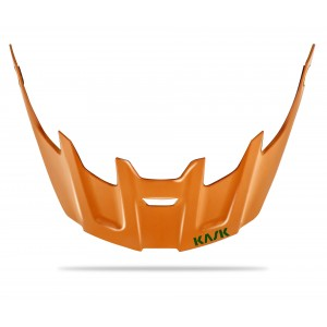 Kask Rex Visor Orange Dark Green Logo