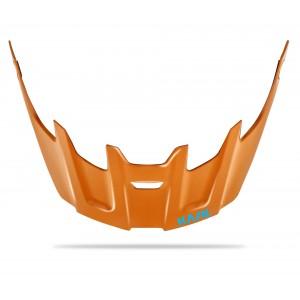 Kask Rex Visor Orange Light Blue Logo