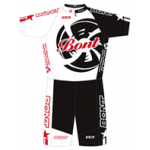Bont Inline Skate Skinsuit Black/White/Red Racing Suit S