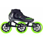 Luigino Strut Inline Speed Skate Black/Green 3 Wheel