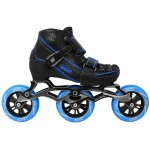Warp 3 Wheel Black/Blue Adjustable Inline Speed Skate