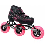 Warp 3 Wheel Black/Pink Adjustable Inline Speed Skate