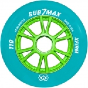 Atom SUB-7 Max Blue XFirm Inline Speed Wheels