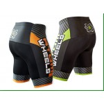 Atom Wheels Inline Skating Shorts Lime Green/Black/White - YSmall