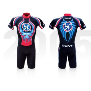 Bont Inline Skate Skinsuit Team International Black/Blue XXL