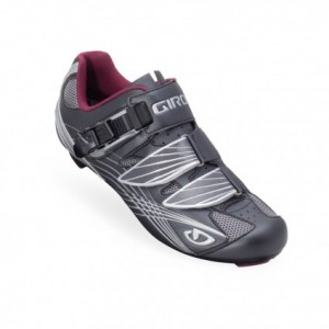 Giro Solara Gunmetal/Berry Women's Road Cycling Shoes