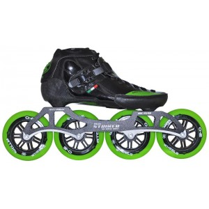 Luigino Strut Inline Speed Skate Green Trim 4 Wheel