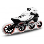 Bont Jet Inline Speed Skate White/Silver 3 Point