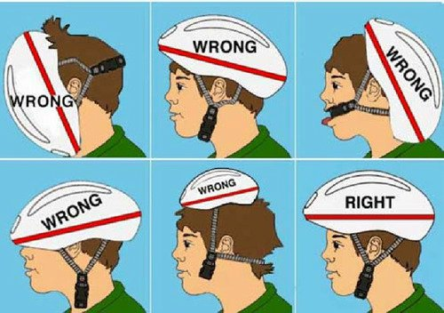 Here's a simple guide for fitting your cycling helmet