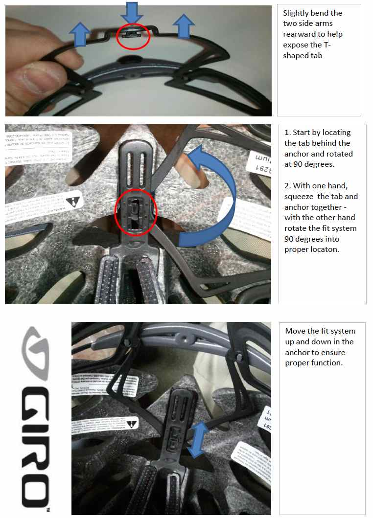 How to install a replacement Giro Roc Loc 5